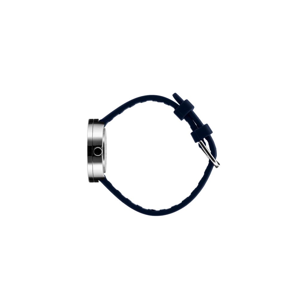 Picto 30mm Navy Blue - Polished Steel