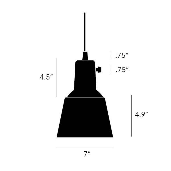 Midgard K831 Pendant Light Black Matt Powder coated