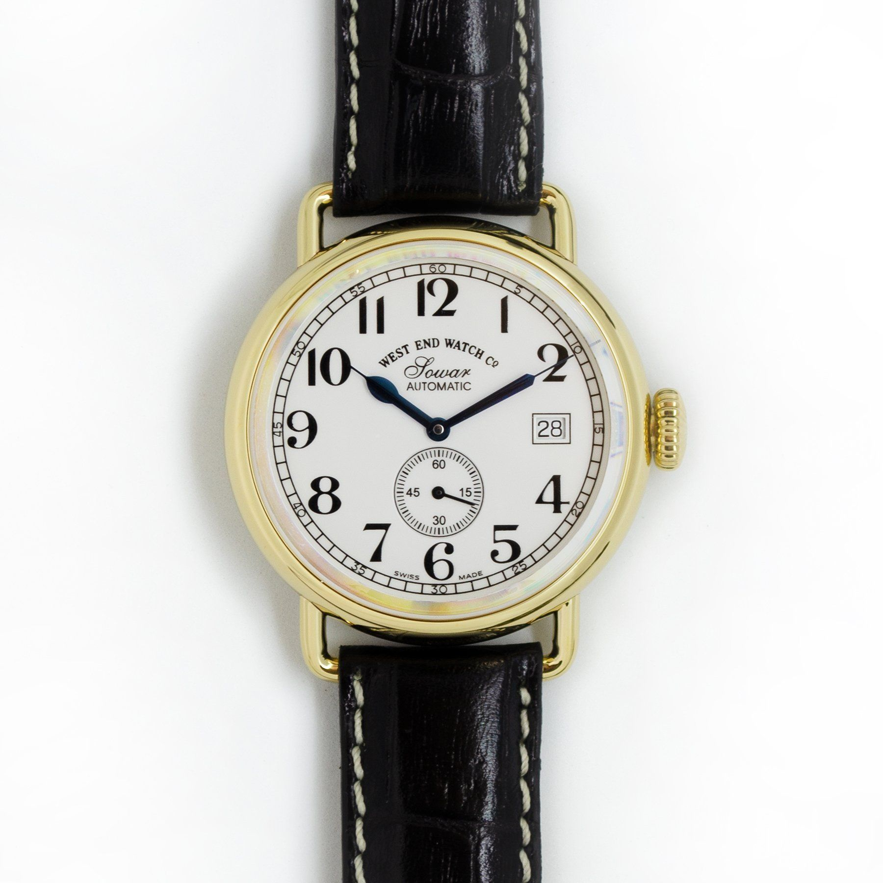 West End Watch Co. Sowar 1916 - White Dial, Gold PVD Case