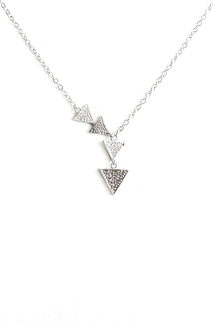 Triangle Trail Silver Necklace