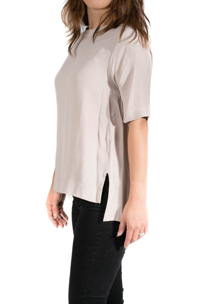 Round Neck Short Sleeve Blouse
