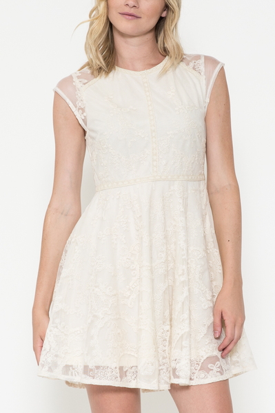 Delicate Lace Cap Sleeve Dress