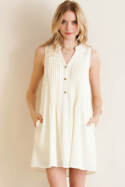 Pin-Tuck Detailed Shirt Dress