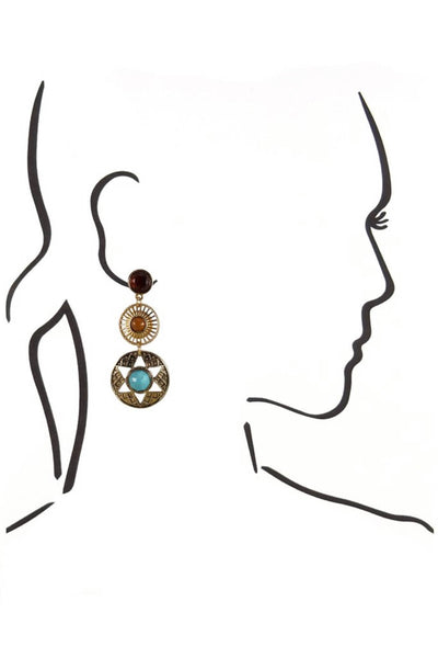 Arianna Circle Dangle Earring
