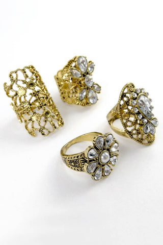 Natasha Filigree Ring Set