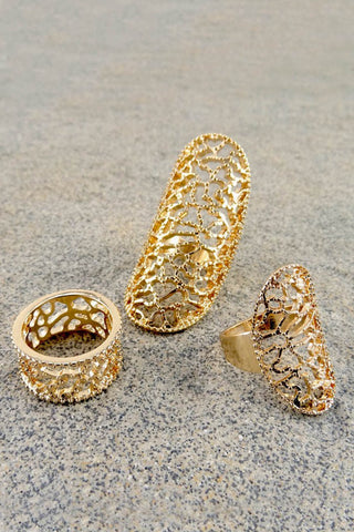 Zora Filigree Ring Set