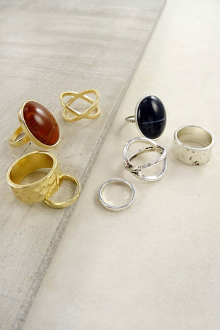 Jacky Multi Stone Ring Set