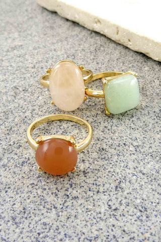 Wendy 3 Piece Stone Ring Set