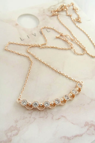 Desiree Rhinestone Delicate Necklace
