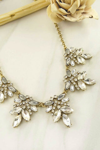 Ruby Rhinestone Statement Necklace