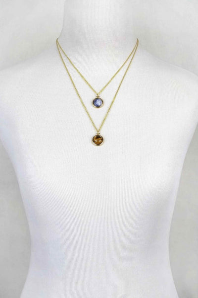 Khloe Layered Stone Necklace
