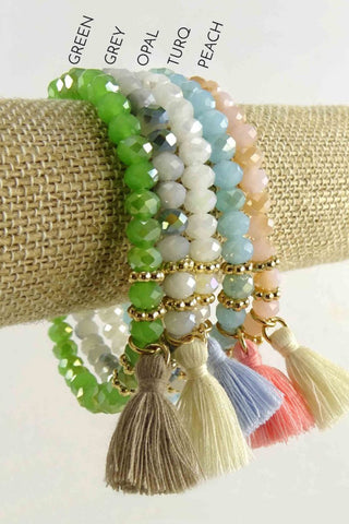 Sharon Stretch Tassel Bracelet