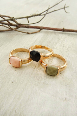 Multi Stone Ring Set