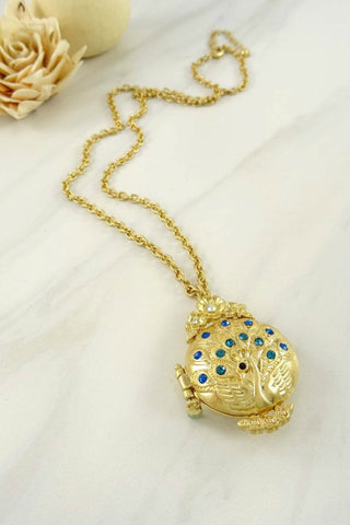 Peacock Locket Necklace