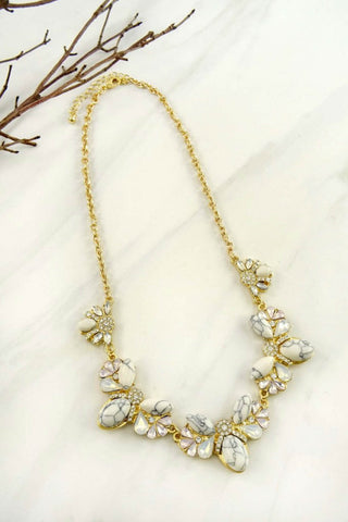 Juliana Marble Rhinestone Necklace