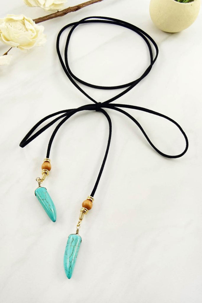 Wrap Around Stone Tip Necklace