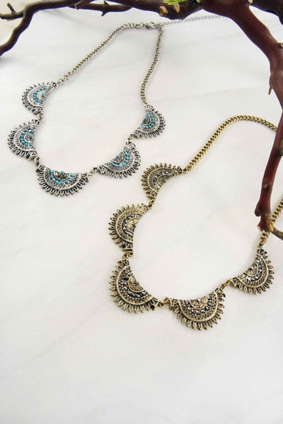 Bohemian Etched Necklace