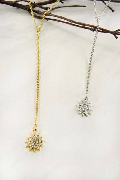 Starburst Y Necklace