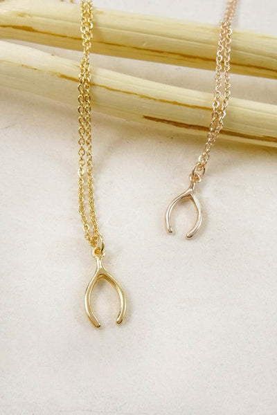 Delicate Wishbone Necklace