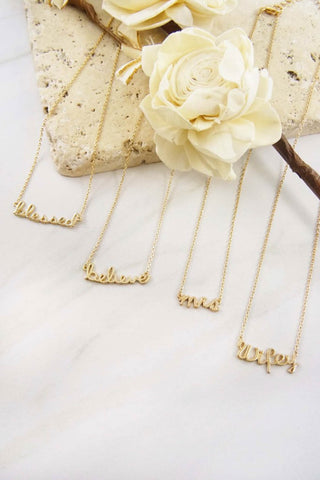 Verbiage Necklace