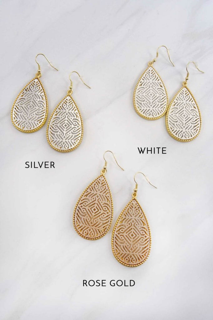 Filigree Teardrop Earring