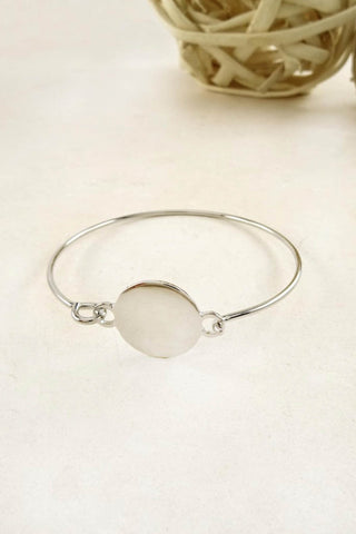 Janet Clean Metal Disc Thin Bracelet