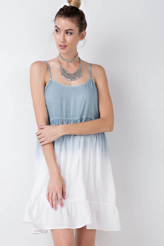 Ombre Dip-Dye Cami Dress