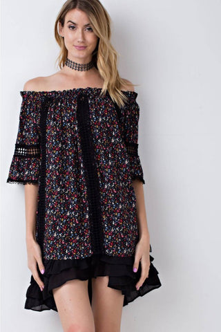 Half Sleeve Off Shoulder Crochet Top