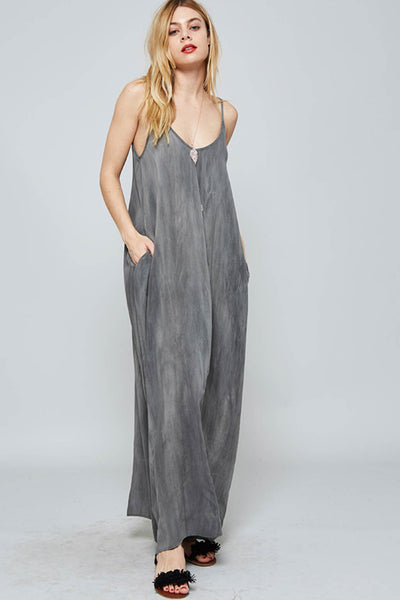 Maxi Slip Dress with Side Pockets