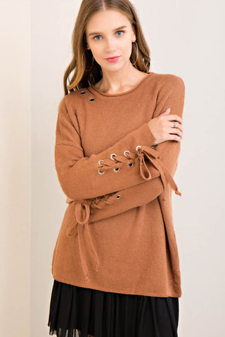 Eyelet Detail Sweater Top