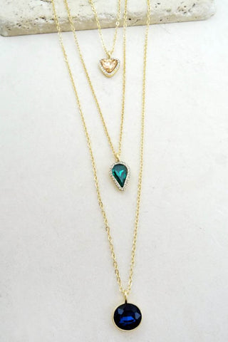 Stone Delicate Layered Necklace