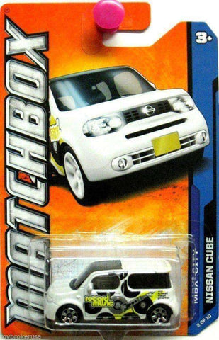 2011 Matchbox MBX City Record Music Nissan Cube Car