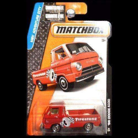 2014 Matchbox MBX Adventure City Firestone '66 Dodge A100 Truck