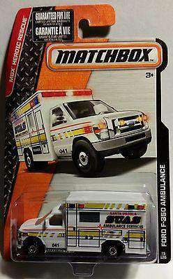 Matchbox MBX Heroic Rescue Santa Ursula Ford F-350 Ambulance