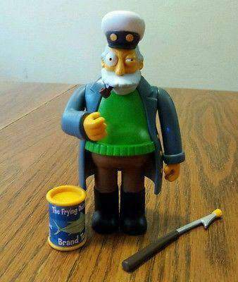 The Simpsons Captain McAllister World of Springfield Action Figure Playmates New in Package