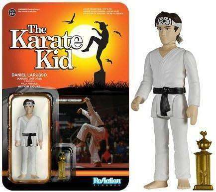 Daniel LaRusso The Karate Kid Reaction Figure NIB Funko NIP Action Figure