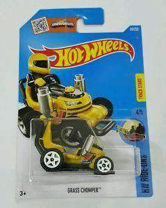2016 Hot Wheels Grass Chomper NIB 69/250 NIP HW Ride-Ons 4/5 Mattel