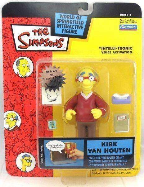 The Simpsons Kirk Van Houten World of Springfield Action Figure Playmates New in Package