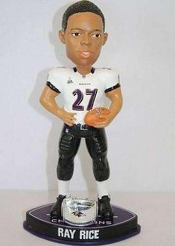 Ray Rice Baltimore Ravens Super Bowl XLVII Champions Bobblehead by Forever Collectibles