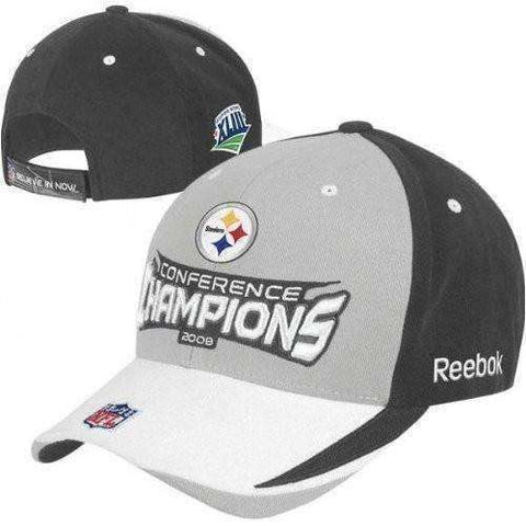 2008 Pittsburgh Steelers AFC Conference Championship adjustable fit hat by Reebok