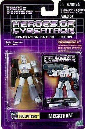 2001 Transformers Heroes of Cybertron Decepticon Megatron Action Figure by Hasbro