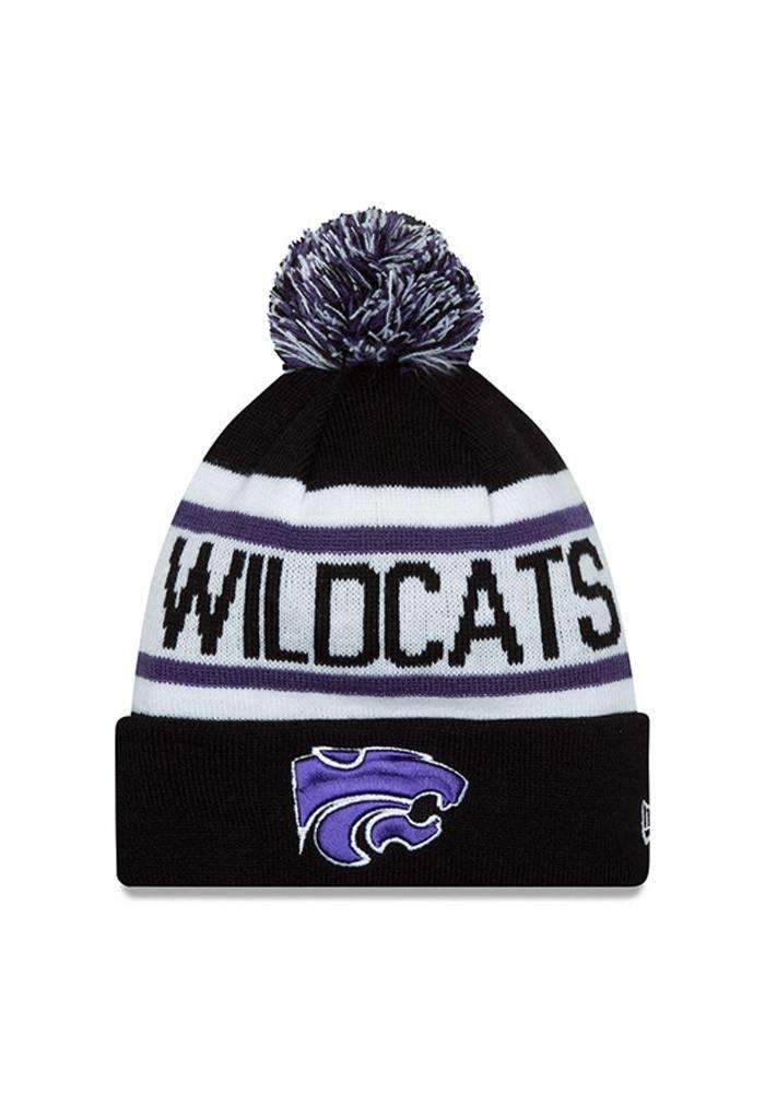 best service 7f05c 696ba Kansas State Wildcats NWT Pom Knit NCAA Winter Hat by New Era