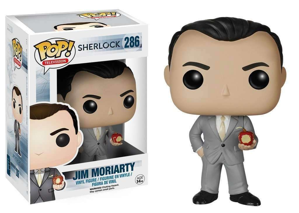 Sherlock Jim Moriarty Pop! Television Funko Vinyl Figure New in Box NIP 286 New in Package