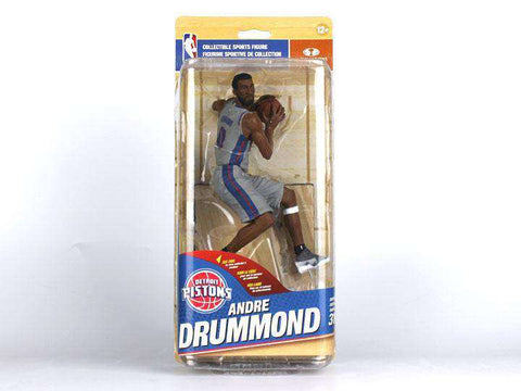 Up for sale is a Andre Drummond Detroit Pistons Series 31 Variant Silver Alternate Uniform McFarlane action figure. This Andre Drummond Detroit Pistons action figure comes new in original packaging and is an officially licensed NBA product. Andre Drummond was a college basketball star at UCONN  and was selected 12th in the First Round of the 2010 NBA Draft. Andre Drummond is a two time NBA All-Star with the Detroit Pistons.     The Andre Drummond Detroit Pistons Silver Alternate Variant McFarlane action fig