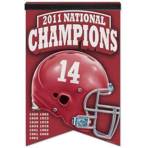 "Alabama Crimson Tide 2011 National Champions banner ""17 x 26"" NWT NCAA Roll Tide"