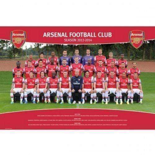 Arsenal Gunners 2013-2014 Team Squad Poster by GB Eye