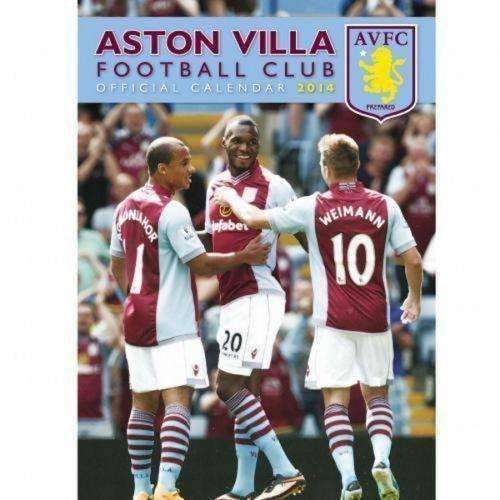 Aston Villa 2014 Calendar New English Premier League Villians AVFC Soccer