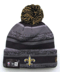 New Orleans Saints Pom Knit Winter Hat by New Era