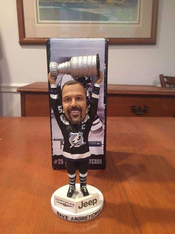 Dave Andreychuk Tampa Bay Lightning NHL SGA bobblehead with Stanley Cup NIB New in Box