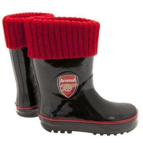 Arsenal FC Children's Wellington sock boots new with tags EPL Gunners Wellie NWT